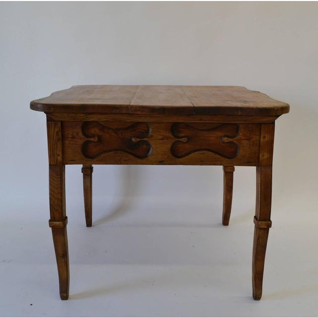 Brown Pitch Pine and Oak Baroque Revival Centre Table For Sale - Image 8 of 8