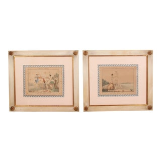 19th Century French Motherhood Framed Engraving Prints - a Pair For Sale