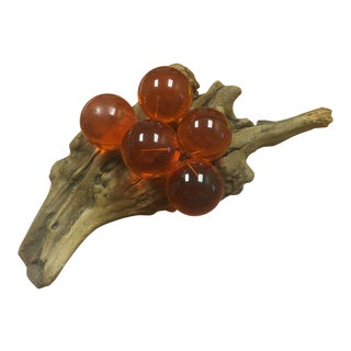 1970s Mid Century Lucite Grape Cluster For Sale