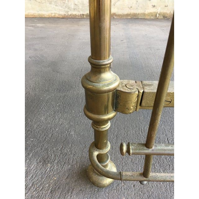 Traditional Vintage Traditional Brass Queen Size Bedframe For Sale - Image 3 of 12
