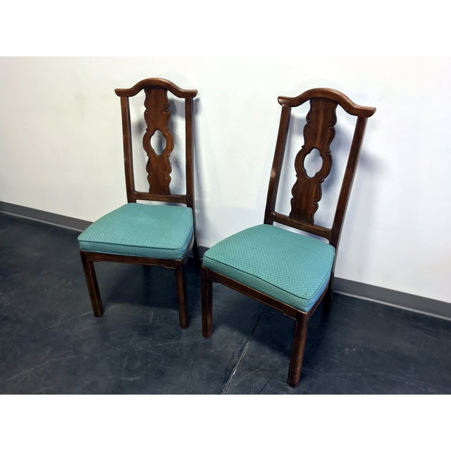 Thomasville THOMASVILLE Mystique Asian Chinoiserie Dining Side Chairs - Pair 2 For Sale - Image 4 of 13