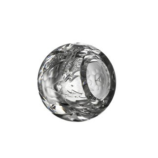 Cut Crystal Sphere Orb Round Bowl Cigar/Cigarette Ashtray For Sale
