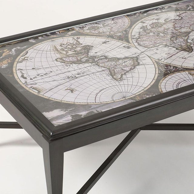 Inset World Map Explorer Coffee Table - Image 5 of 6