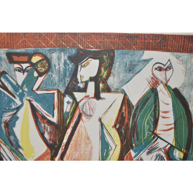 Abstract Mid Century Figural Abstract by Becker c.1953 For Sale - Image 3 of 5