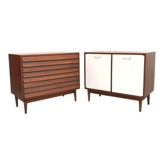 1970s Mid Century Modern American of Martinsville Cabinets - a Pair For Sale