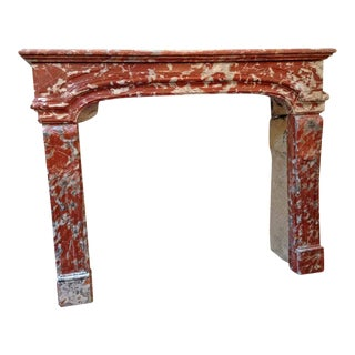 Louis XIV Rust Marble Mantel For Sale