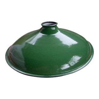 1940s Industrial Green Metal Light Shade For Sale