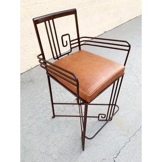 Biltmore Wrought Iron Art Deco Revival Stool by Marina McDonald Jazz Furniture Preview