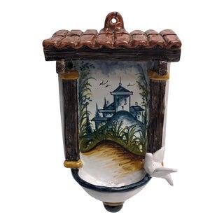 Italian Glazed Terra-Cotta Wall Hanging For Sale