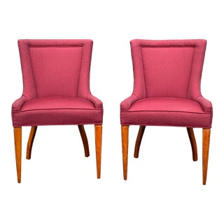 Mid Century Slipper Chairs - a Pair For Sale