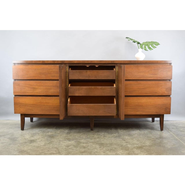 Danish Modern Mid-Century Walnut Credenza or Dresser For Sale - Image 3 of 7