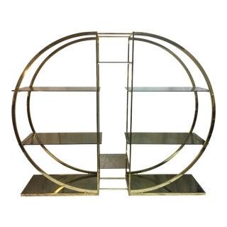 Milo Baughman Art Deco Brass Etagere