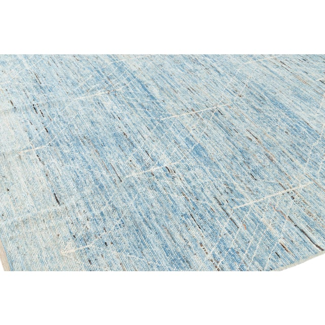 """2010s 21st Century Modern Moroccan-Style Rug, 7'0"""" X 10'0"""" For Sale - Image 5 of 11"""