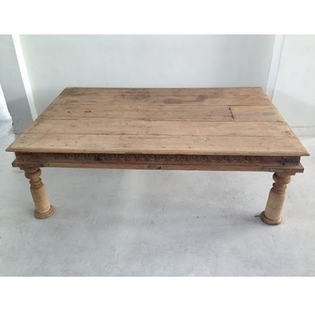 Antique Teak Coffee Table: Vintage Teak Takhat Coffee Table