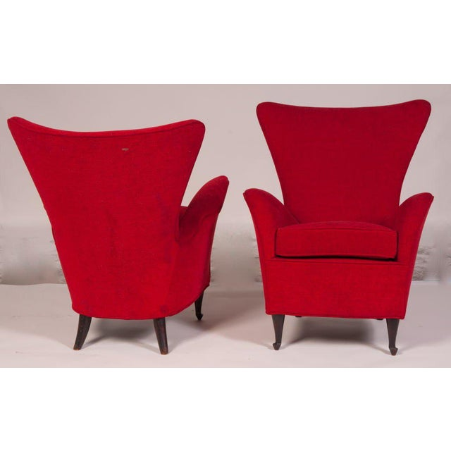 Modern Italian 50s Armchairs For Sale - Image 3 of 7