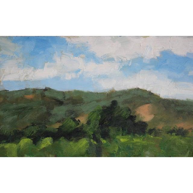 Original Oil Painting Landscape Plein Air, Sonoma Vines For Sale - Image 10 of 12