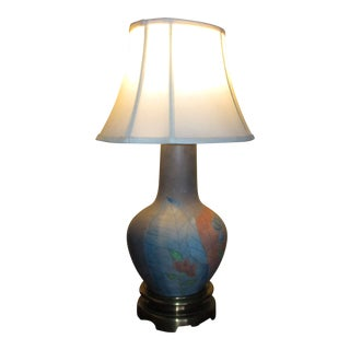 Chapman Vintage Hand Waxed Luxury Table Lamp and Shade For Sale