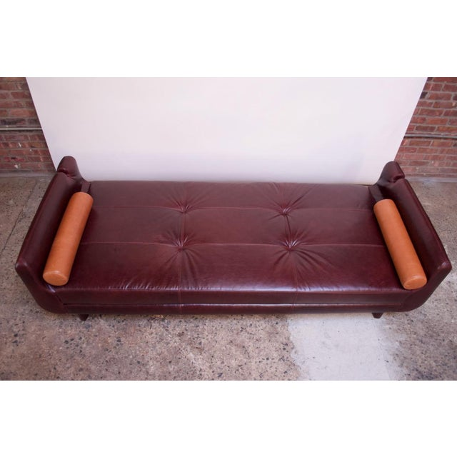 Red Leather 'Matinee' Sofa / Daybed by Vladimir Kagan For Sale - Image 8 of 13