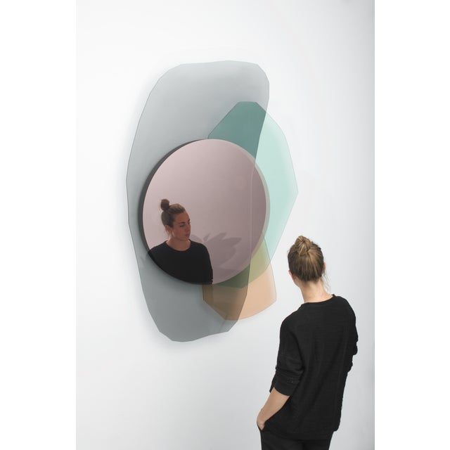 Oskar Peet and Sophie Mensen Glass Repeated Mirror I by Oskar Peet and Sophie Mensen For Sale - Image 4 of 8
