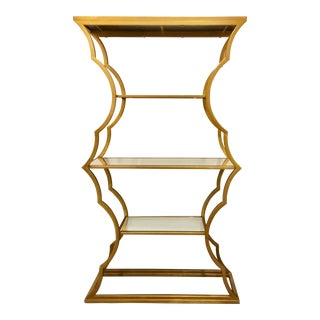 Modern Metal Cloud Gold Bookcase/Etagere For Sale