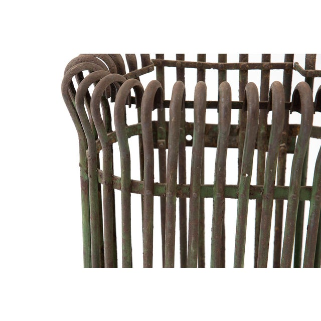 Rustic Patinated Umbrella Holder For Sale - Image 4 of 6