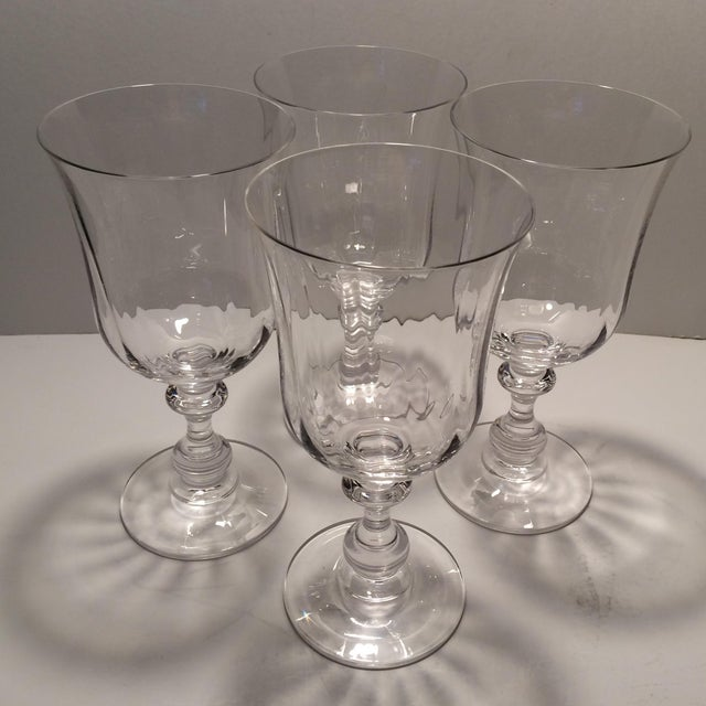 "Vintage Crystal Mikasa ""French Country"" Water Goblets - S/4 - Image 8 of 11"