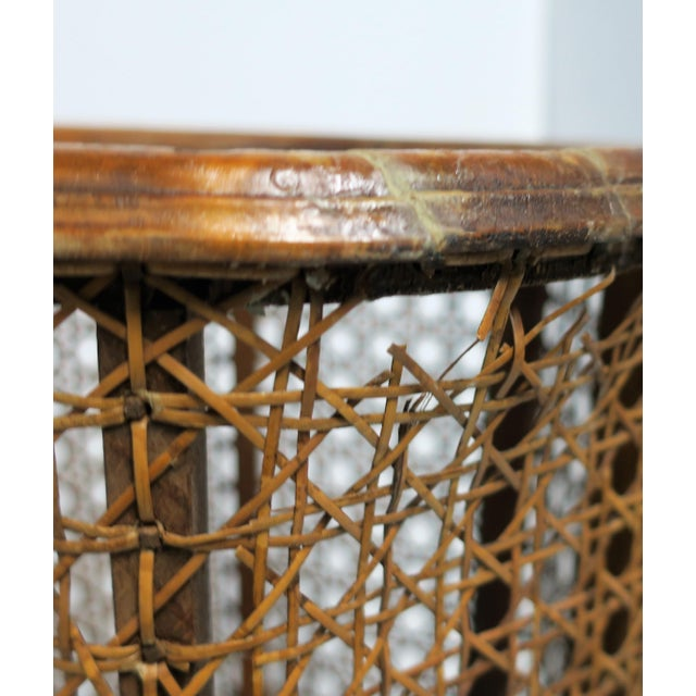 Vintage Wicker Cane Plant Stand For Sale In New York - Image 6 of 13
