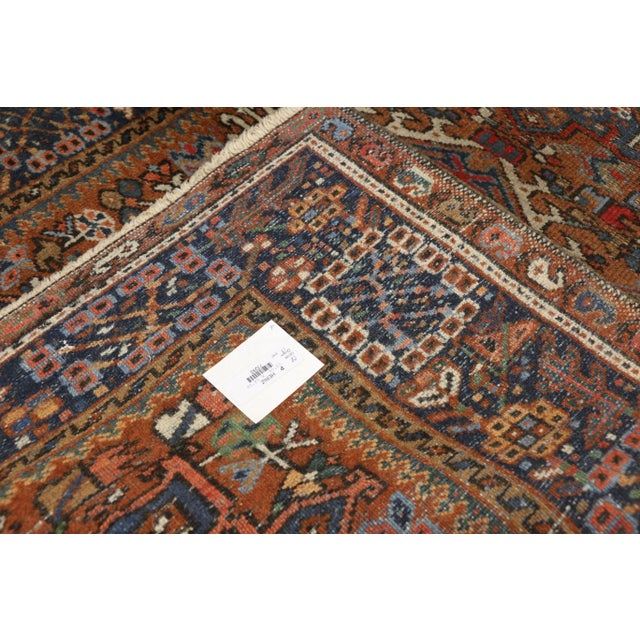Antique Persian Karaja Heriz Rug With Mid-Century Modern Style, 3'6x4'6 For Sale In Dallas - Image 6 of 9