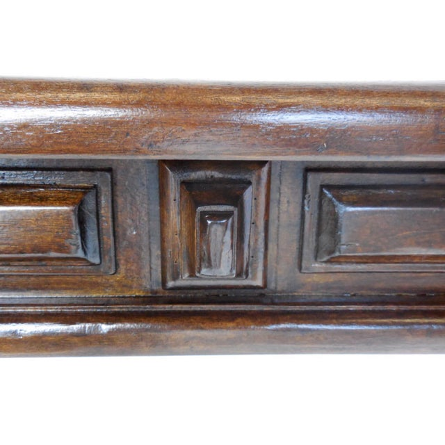Not Yet Made - Made To Order Custom Walnut Console With Raised Panels For Sale - Image 5 of 8
