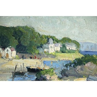 Boats in Harbor, E. Schlumberger (1879-1960) Impressionism Oil Preview