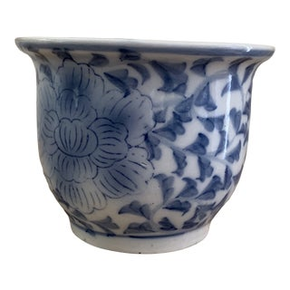 Chinese Blue and White Orchid Flower Pot For Sale