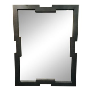 Worlds Away Modern Gray Shagreen Wall Mirror For Sale