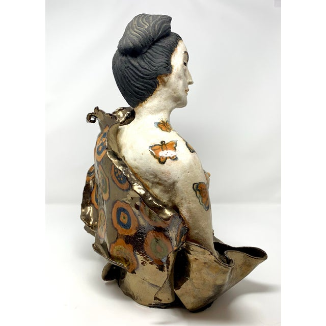 Late 20th Century Theo Samuels Japanese Woman Sculpture For Sale - Image 4 of 13