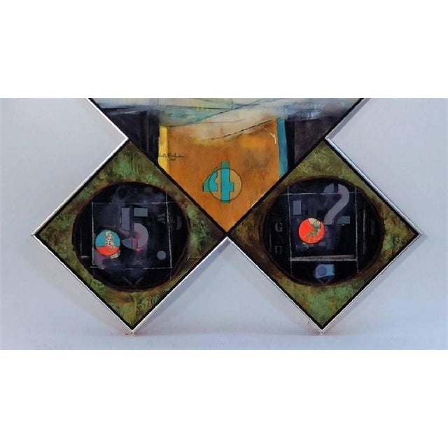 Oil on Canvas and Collage Triptych by Walter Feldman, 1975 For Sale - Image 4 of 10