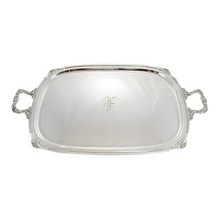 "Sterling Silver ""F"" Butler's Tray"