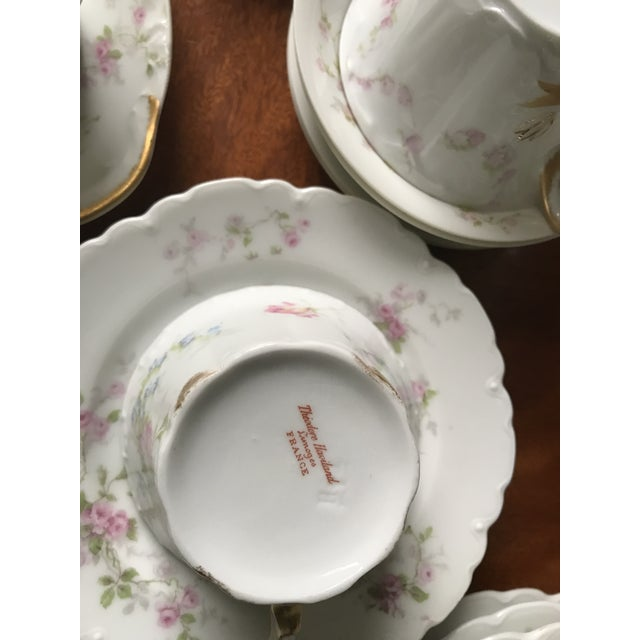 1900 - 1909 Antique , Rare Theodore Haviland Limoges France Partial Set 34 Pieces, Dinnerware For Sale - Image 5 of 13