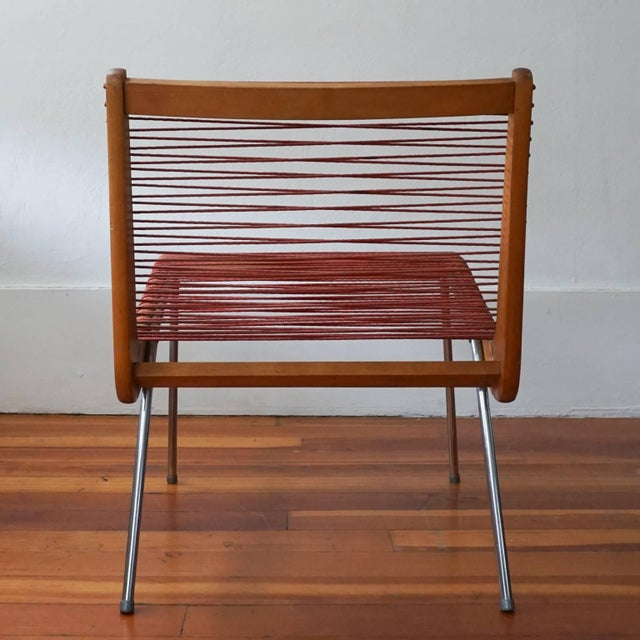 1950s String Chair by Robert J Ellenberger for Calfab Good Design, 1950s For Sale - Image 5 of 8