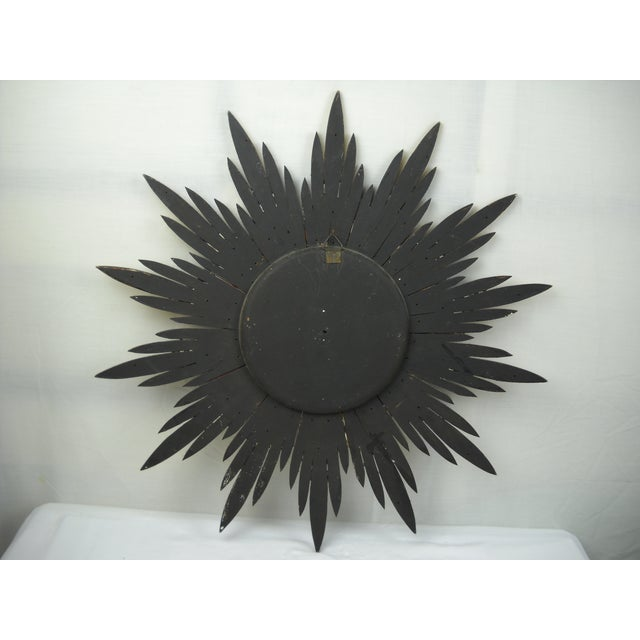 Green French Carved Wood Starburst Mirror For Sale - Image 8 of 8