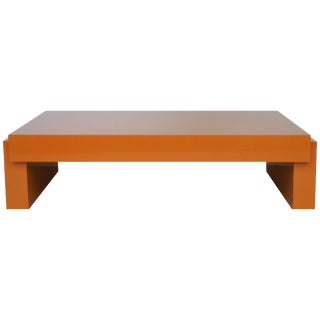 Karl Springer Lacquer Airport Coffee Table, 1980 For Sale