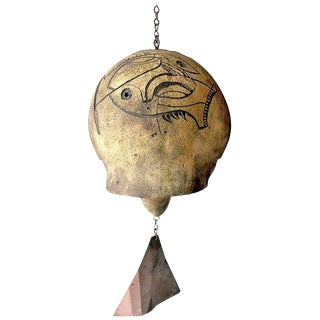 1970s Vintage Paolo Soleri Cosanti Ceramic Abstract Wind Chime Bell For Sale