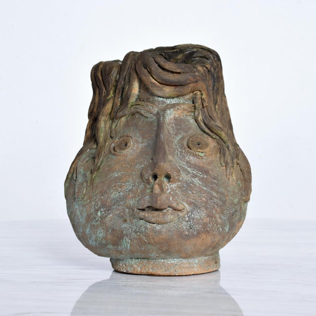 Brutalist Mid-Century Modern Pottery Vase Picasso Attr. For Sale - Image 10 of 10