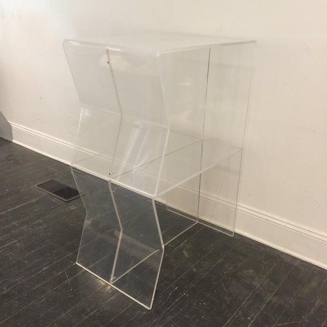 1970s Modern Charles Hollis Jones Lucite Side Tables - a Pair For Sale - Image 9 of 10