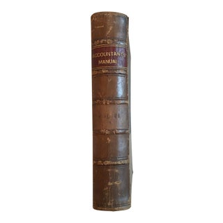 1908 The Accountants' Manual Book For Sale