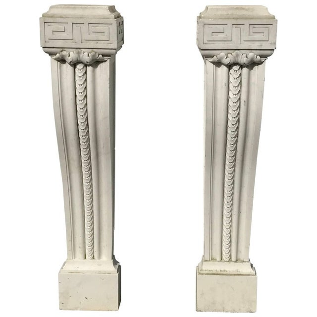19th Century English Regency Marble Plinths or Pedestals - a Pair For Sale - Image 4 of 4