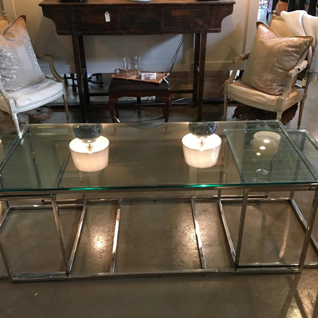 Early 21st Century Mid-Century Modern Coffee Table & Side Tables - Set of 3 For Sale - Image 5 of 7