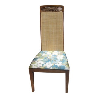 Mid-Century Tall Cane Side Chair