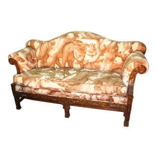 1990's Vintage Chippendale Style Settee For Sale