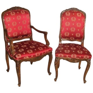 Set of 14 Dining Chairs Louis XV Style, Maison Jansen For Sale