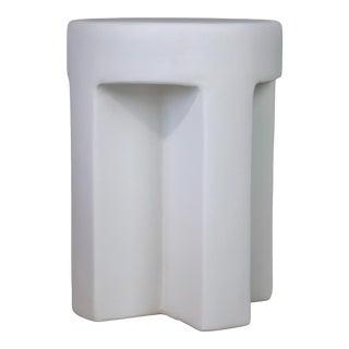 Sano Plaster Round Accent Table
