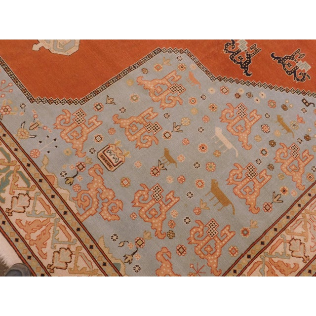 """1950s Hand-Knotted Turkish Serapi Rug - 8'7""""x 12' For Sale - Image 5 of 12"""